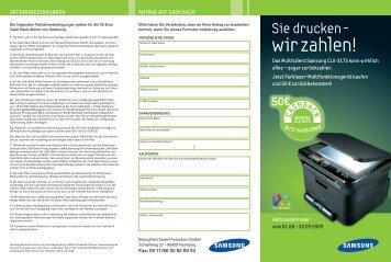 CLX-3175-CashBack-Flyer Druck:Produktion - Samsung Partner ...