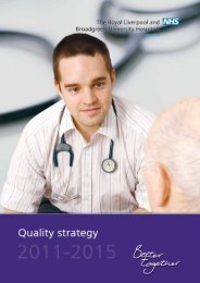 Quality Strategy 11-15.pdf - Royal Liverpool and Broadgreen ...