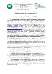 Instruções para Inscrição de Trabalhos SBZ 2011 Normas ... - ITpack