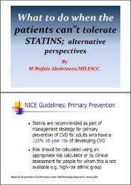 """Wh t t d h th What to do when the i """" patients can""""t tolerate"""