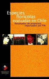 Especies florícolas evaluadas en Chile