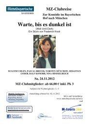 11 24 Reiseprogramm München Komödie Warte bis es dunkel ist