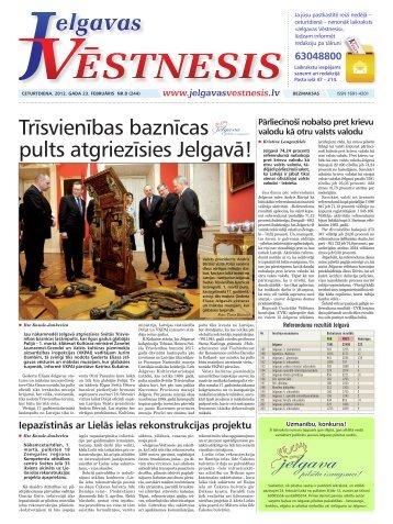 2012.gada 23.februāris Nr.8(244) - Jelgavas Vēstnesis