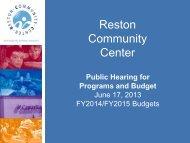 June 17, 2013 - Reston Community Center