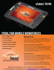 T8700 Spec Sheet - MobileWorxs