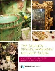 the atlanta spring immediate delivery show - AmericasMart Atlanta