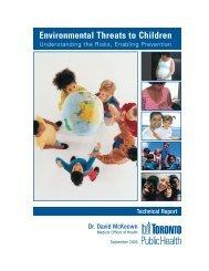 Environmental Threats to Children - City of Toronto