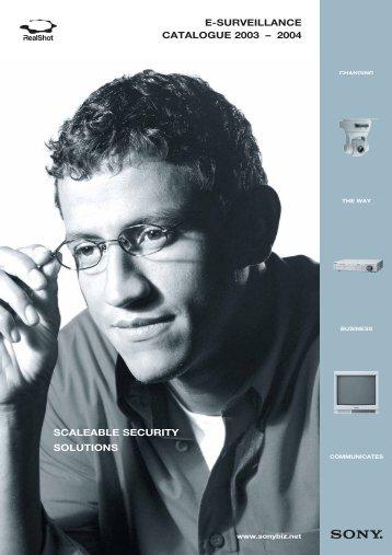 e-Surveillance Catalogue 2003/4- GB - Pro Motions doo