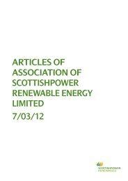 Memorandum and Articles of Association of the ScottishPower ...