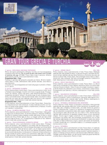 GRAN TOUR GRECIA E TURCHIA - Utat Viaggi