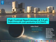 High Contrast Spectroscopy at 3-4 µm - ESO