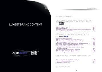 luxe et brand content - Recherche Marketing & Etudes Internet ...