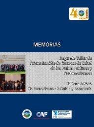Memorias del Foro y del Taller - Organismo Andino de Salud