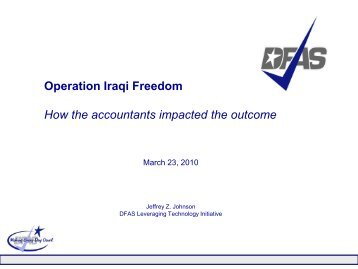Operation Iraqi Freedom: How the Accountants Impacted the Outcome