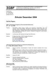 Zirkular vom Dezember 2004 - SGBF-SSMSR