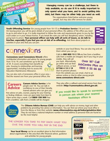 credit card leaflet - [PDF] - Niace