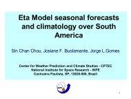 Eta Model seasonal forecasts and climatology ... - mtc-m17:80 - Inpe