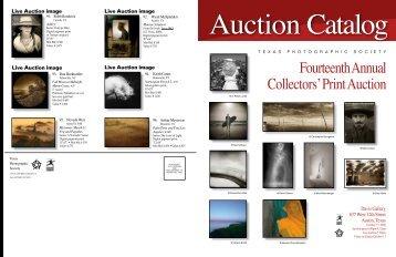 Auction Catalog XIV - Texas Photographic Society