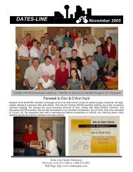 DATES-LINE November 2005 - Dallas Area Tandem Enthusiasts