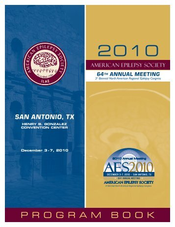 Program Book - American Epilepsy Society
