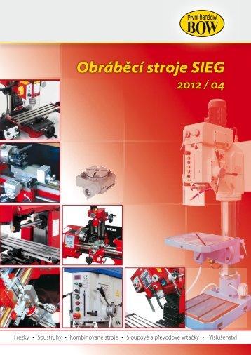 Obráběcí stroje SIEG 2012 / 04 - ToBig