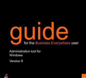 user guide for IT managers - Orange