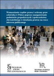 Wzmacnianie rządów prawa i ochrony praw człowieka w Polsce ...