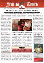 Ihr Start ins Jahr 2012 – mit gutem Vorsetzen - Das Feuerschiff