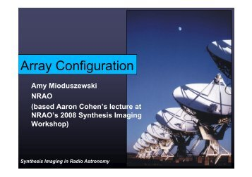 Array Configuration