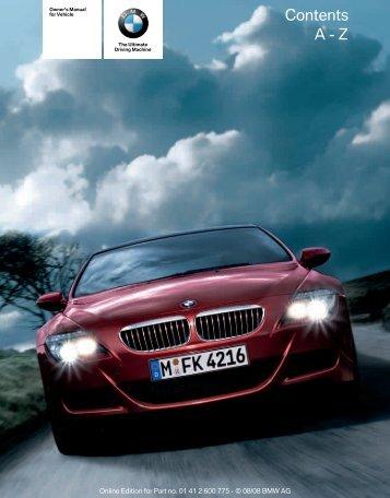 Contents A - Z - Irvine BMW