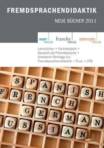 FREMDSPRACHENDIDAKTIK - Gunter Narr Verlag/A. Francke ...
