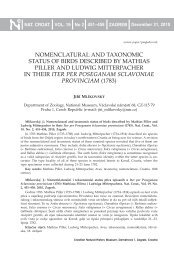 nomenclatural and taxonomic status of birds described by mathias ...