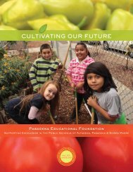 PEF 2012 Annual Report - Pasadena Educational Foundation