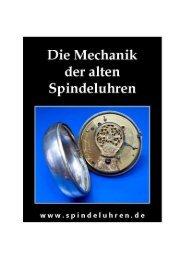 Die Mechanik der alten Spindeluhren - Fachwissen mechanische ...