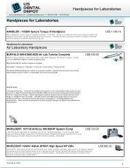 Handpieces for Laboratories Handpieces for ... - Dental Supplies