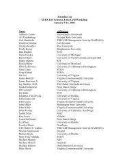 Attendee List SURA Life Sciences & the Grid Workshop January 9 ...