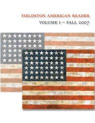 fieldston american reader volume i – fall 2007 - Ethical Culture ...