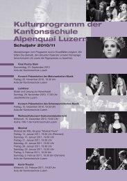Kulturprogramm 2010/2011 - Luzern