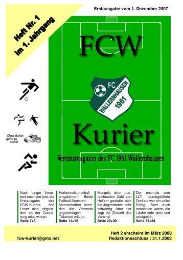 Download von Heft 2007/1 - fcw-kurier.de