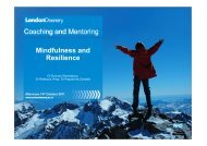 M&R- Coaching and Mentoring - Mentoring - London Deanery