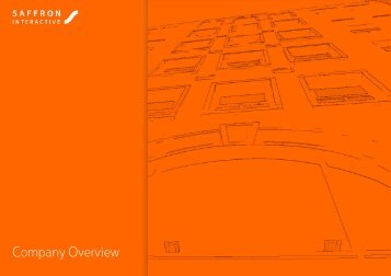Company Overview - Saffron Interactive