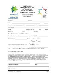 EMC Nomination form Team members - Maccabi Australia