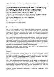 Aktive Hinterachskinematik AKC - Aachener Kolloquium