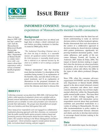Informed Consent - Consumer Quality Initiatives