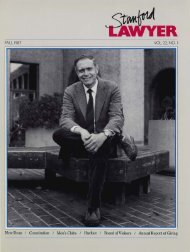 Fall 1987 – Issue 38 - Stanford Lawyer - Stanford University