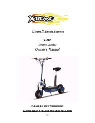Owner's Manual - X-Treme