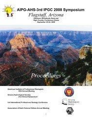 Proceedings - Arizona Hydrological Society