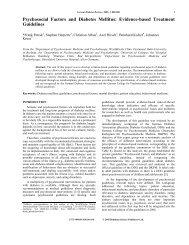 Psychosocial Factors and Diabetes Mellitus ... - Dr. Frank Petrak
