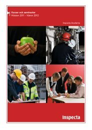 Kurser och seminarier Hösten 2011 – Våren 2012 - Inspecta