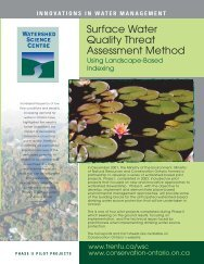 Surface Water Quality Threat Assessment Method - Conservation ...